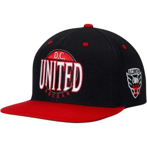 D.C. United Mitchell & Ness On The Spot Snapback Adjustable Hat
