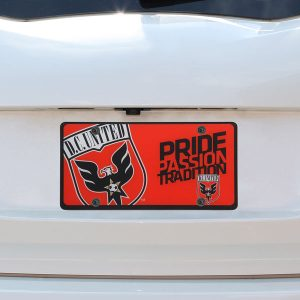 D.C. United Printed License Plate