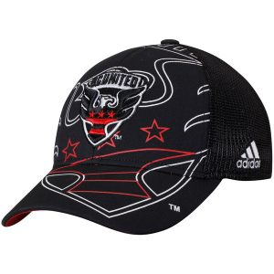 Men's D.C. United adidas Black Flex Meshback Structured Hat