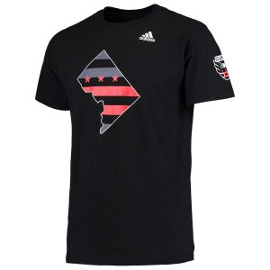 Men's D.C. United adidas Black Jersey Hook T-Shirt