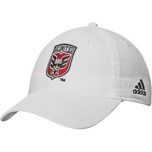 Men's D.C. United adidas White Slouch Adjustable Hat