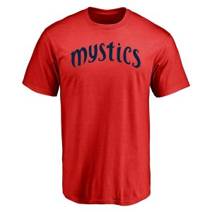 Men's Washington Mystics Red Primary Wordmark T-Shirt