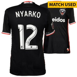 Patrick Nyarko DC United Fanatics Authentic Autographed Match-Used Black