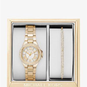 Petite Camille Gold-Tone Watch and Slider Bracelet Set