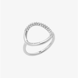 Silver-Tone Pavé Ring