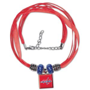 Washington Capitals Ribbon LifeTiles Necklace with Beads