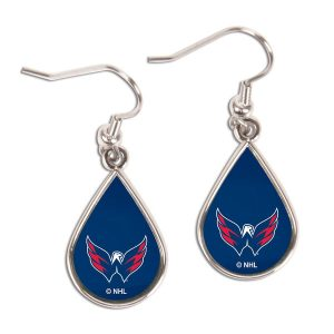 Washington Capitals WinCraft Teardrop Dangle Earrings