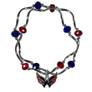 Washington Capitals Women's Bead Stretch Bracelet