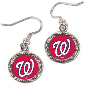 Washington Nationals WinCraft Women's Round Dangle Earrings