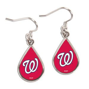 Washington Nationals WinCraft Women's Teardrop Dangle Earrings