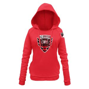 Women's D.C. United 5th & Ocean by New Era Red Brushed Fleece Pullover Hoodie