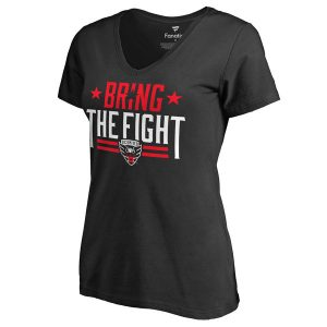 Women's D.C. United Black Bring The Fight Slim Fit V-Neck T-Shirt