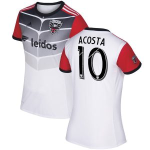 Women's D.C. United Luciano Acosta adidas White 2017 Secondary Replica Jersey