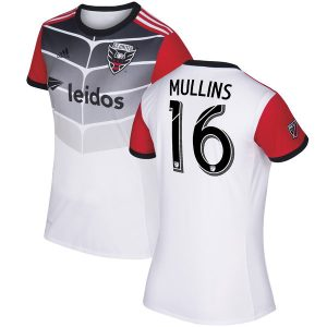 Women's D.C. United Patrick Mullins adidas White 2017 Secondary Replica Jersey