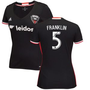 Women's D.C. United Sean Franklin adidas Black 2016/17 Replica Primary Jersey