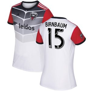 Women's D.C. United Steven Birnbaum adidas White 2017 Secondary Replica Jersey