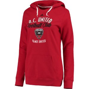 Women's D.C. United adidas Red Arched Gel Hoodie