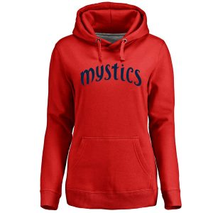 Women's Washington Mystics Red Primary Wordmark Pullover Hoodie