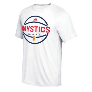 Women's Washington Mystics adidas White On-Court Shooter climalite T-Shirt