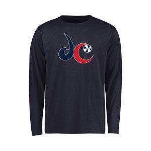 Youth Washington Mystics Navy Secondary Logo Long Sleeve T-Shirt