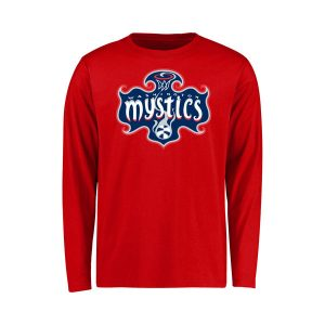 Youth Washington Mystics Red Primary Logo Long Sleeve T-Shirt