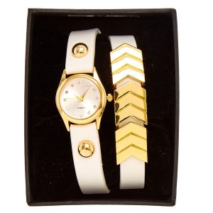Gold Arrow Wrap Watch