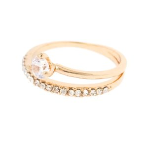 Round Cubic Zirconia Wrap Ring